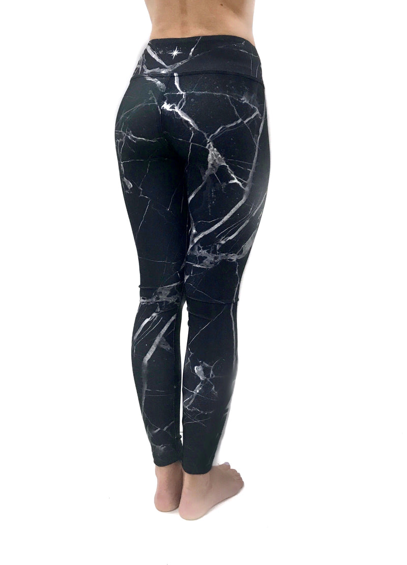 Black Marble Legging