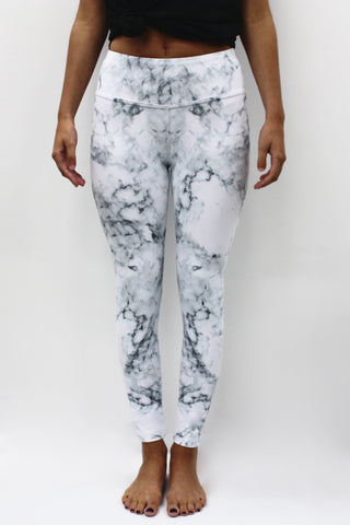 White Marble Legging - New!