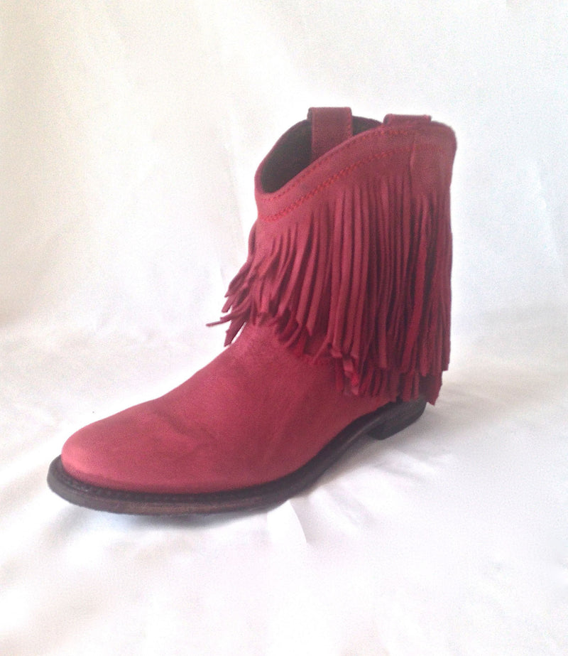 Gypset Boot In Red Sea - 100% Leather & Entirely Handmade
