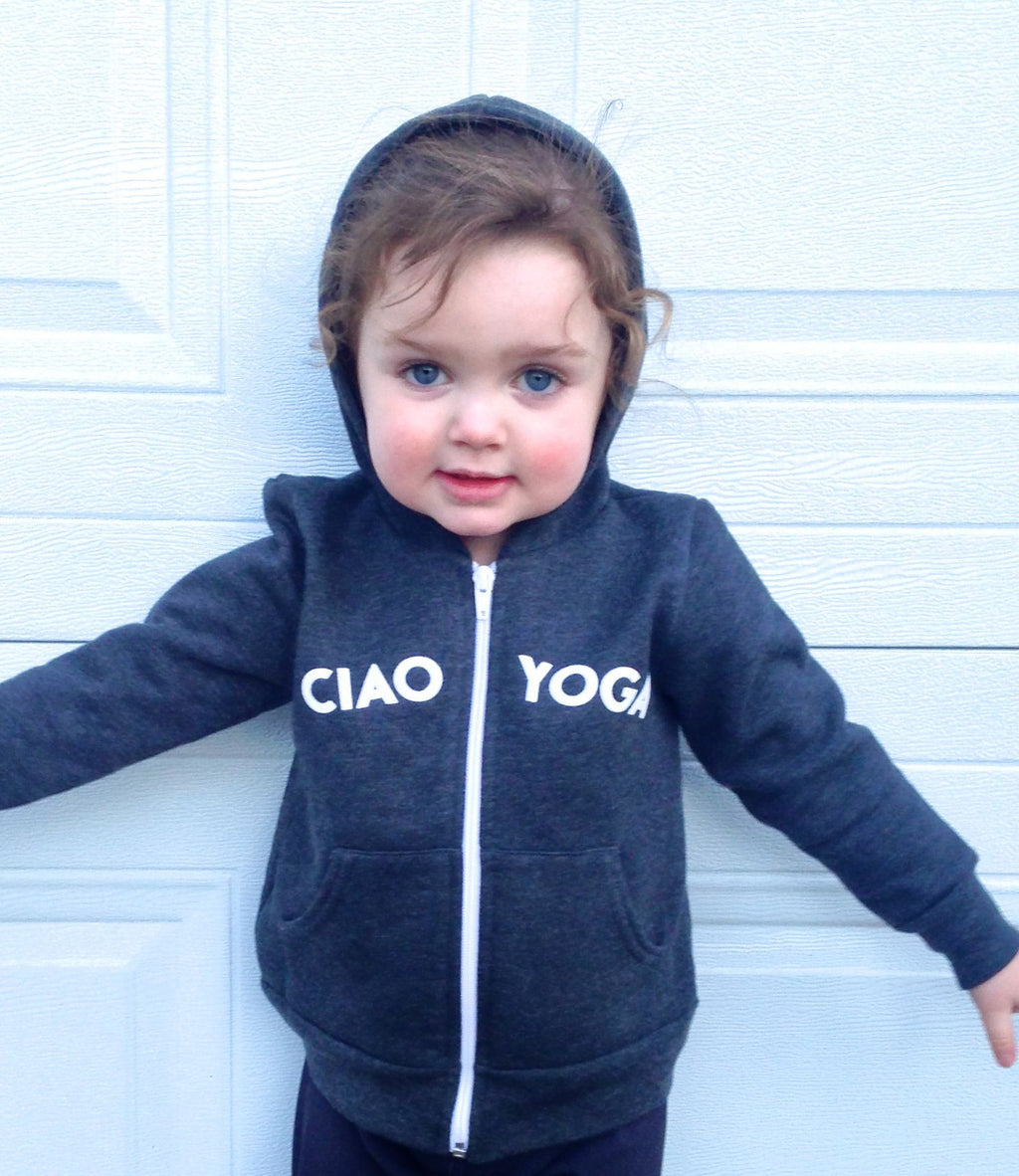 Kids Ciao Yoga Hoodie In Charcoal - Final Sale!