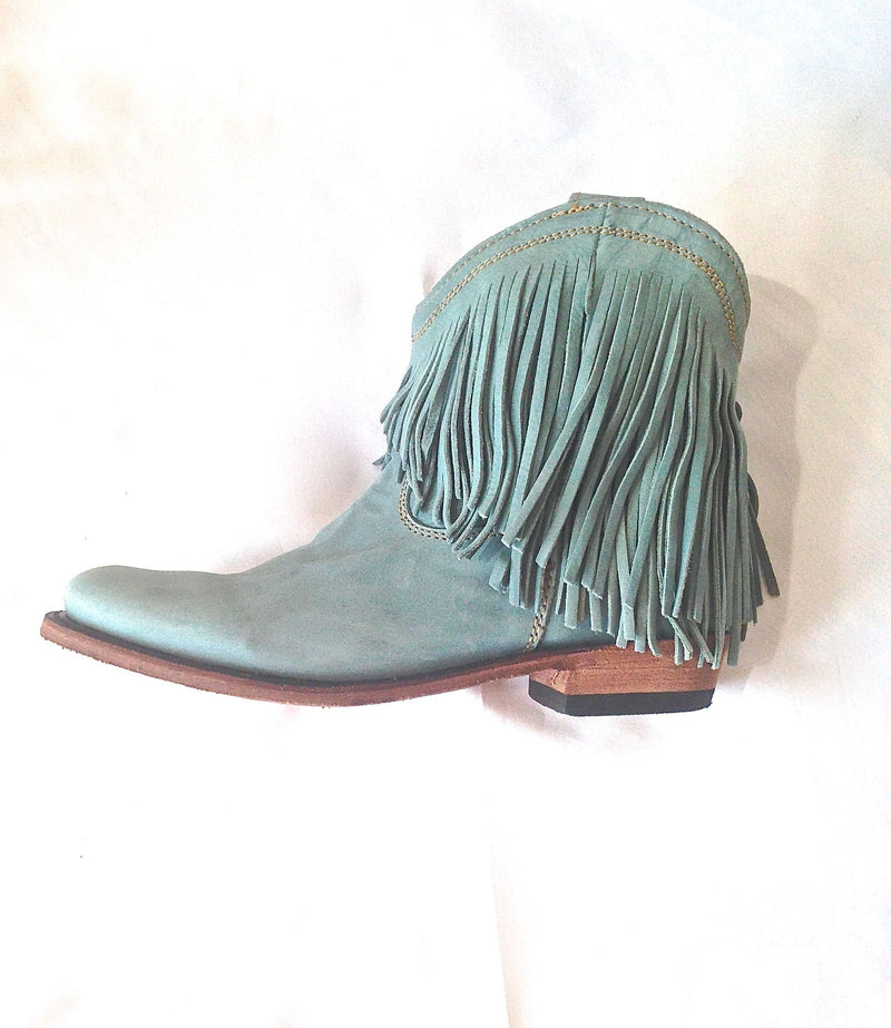 Gypset Boot In Sky - 100% Leather & Entirely Handmade