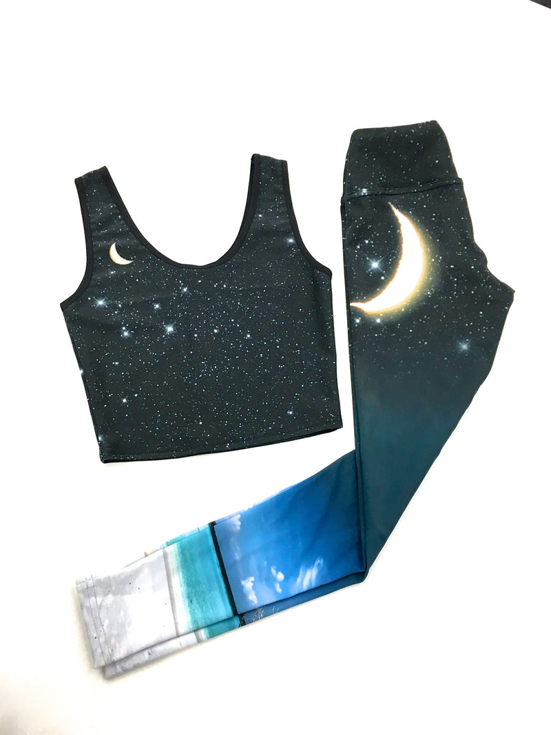 Empowering Ocean Moon Crop Top