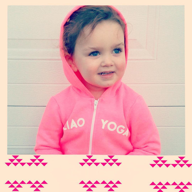 Kids Ciao Yoga Hoodie In Hot Pink - Final Sale!