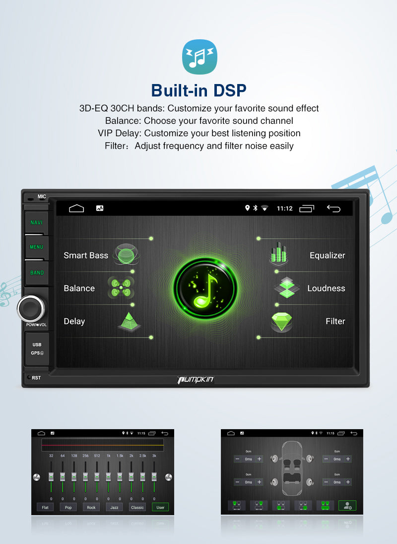 android 10 car radio with dsp