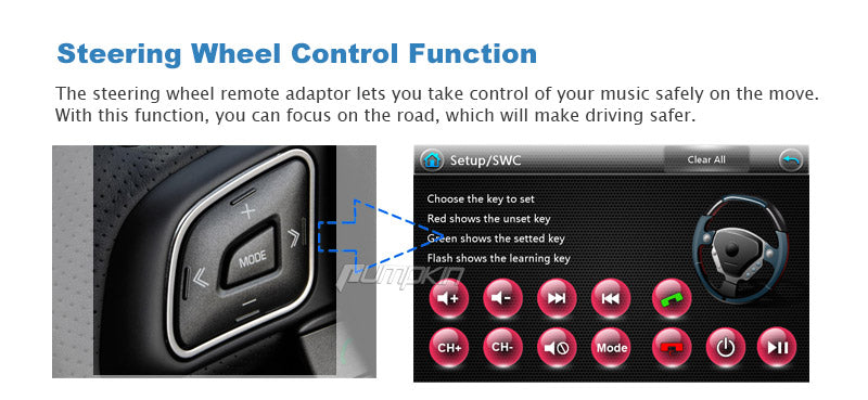 Audi A3 radio with steering whell control