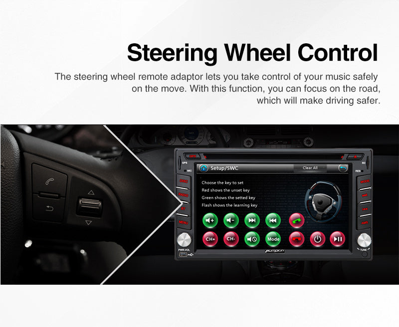 nissan car  stereo with steering wheel control