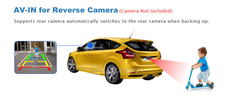 Audi A3 radio with reverse camera