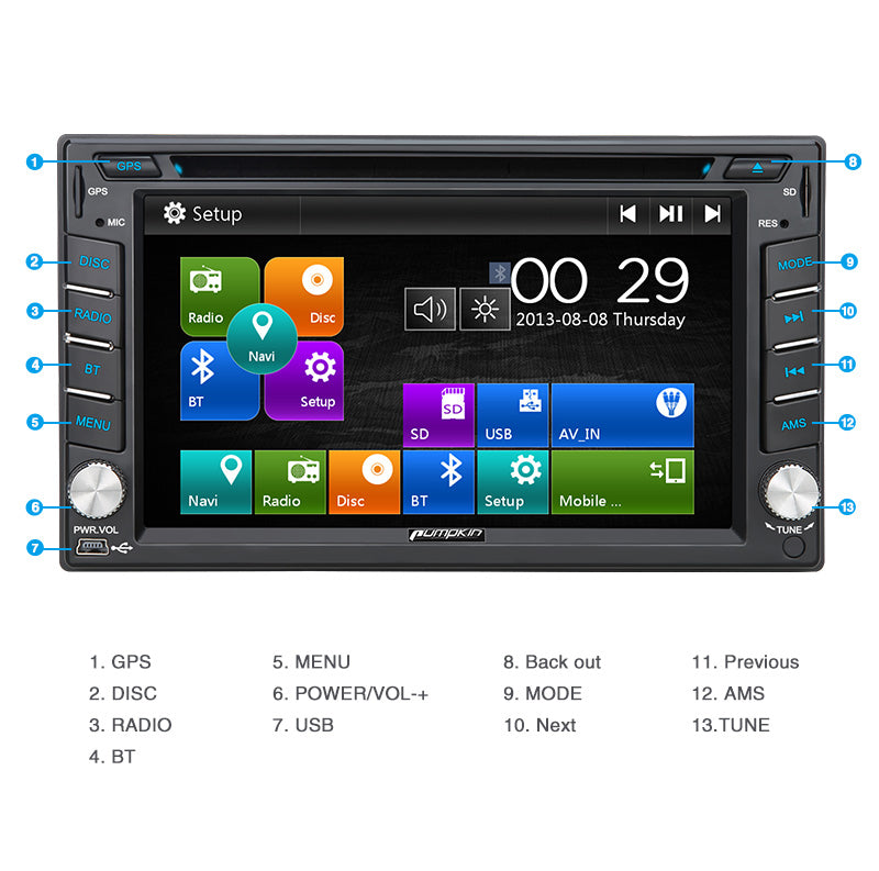 touch screen nissan car stereo