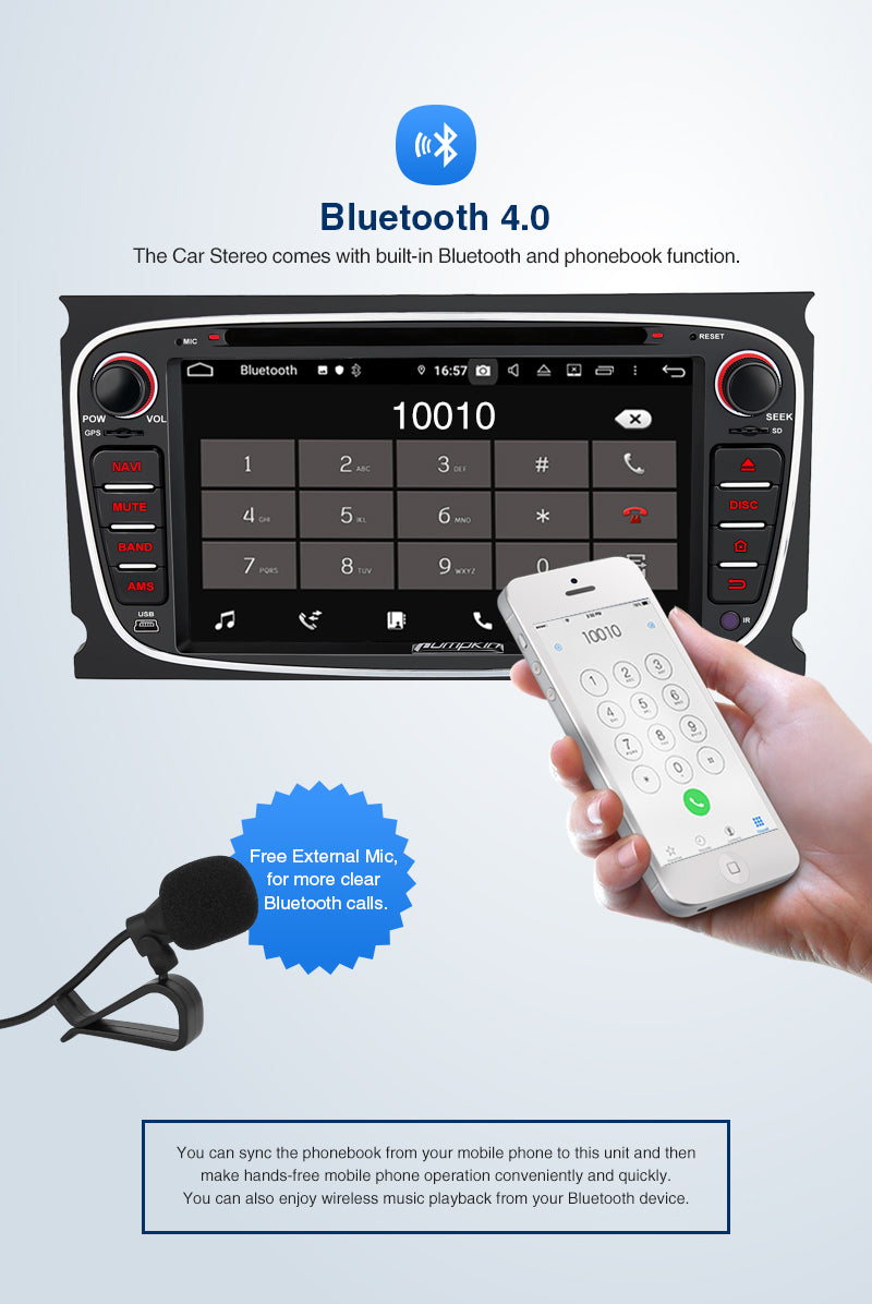 Android 9.0 Car Stereo for Ford with Bluetooth