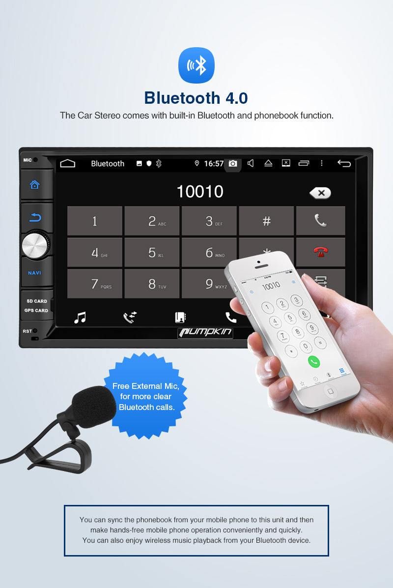Android 9.0 Car Radio with Bluetooth