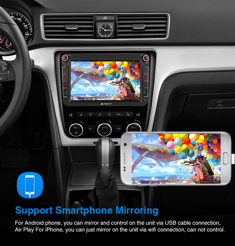 Pumpkin 8 inch Android 9.0 VW Car Radio 8inch Touchscreen Quad-Core DVD Player For VW Passat Golf Tiguan Polo Jetta Series Built-in DAB