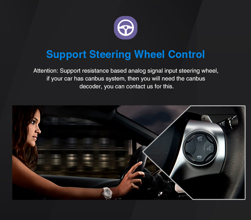 Car Radio with steering wheel audio control