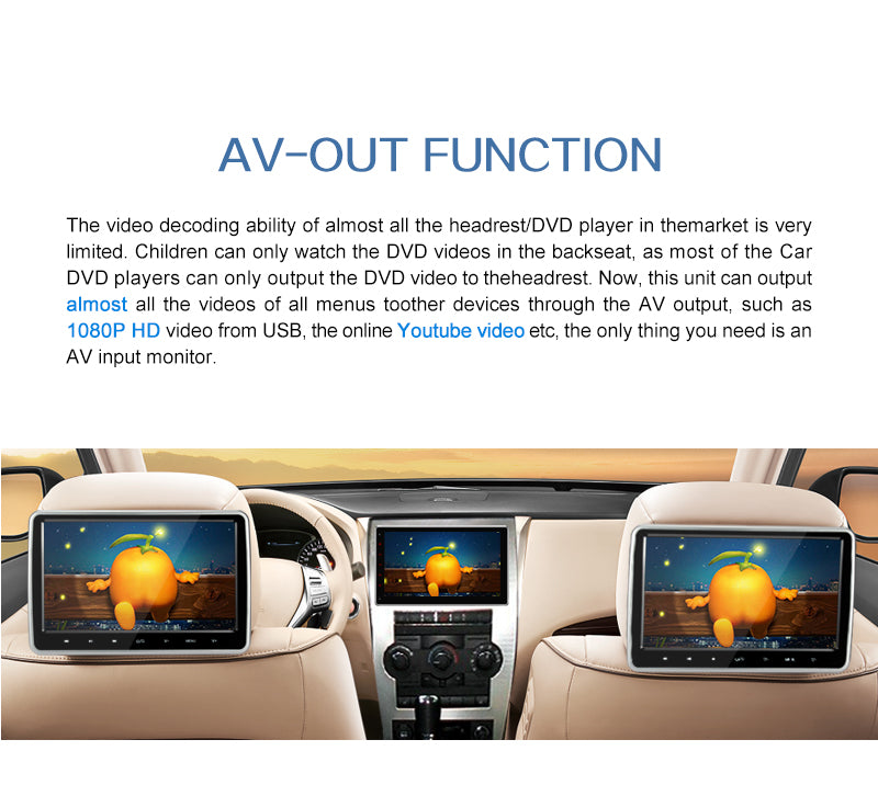 car radio with av output