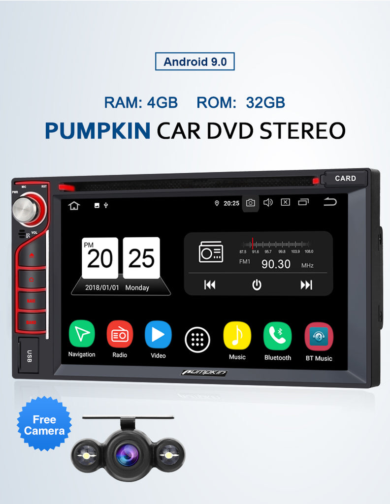 6.2 inch car stereo with backup camera