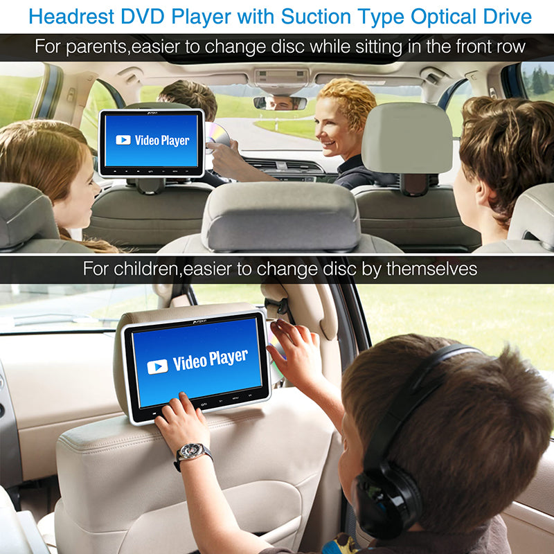 suction type headrest dvd player