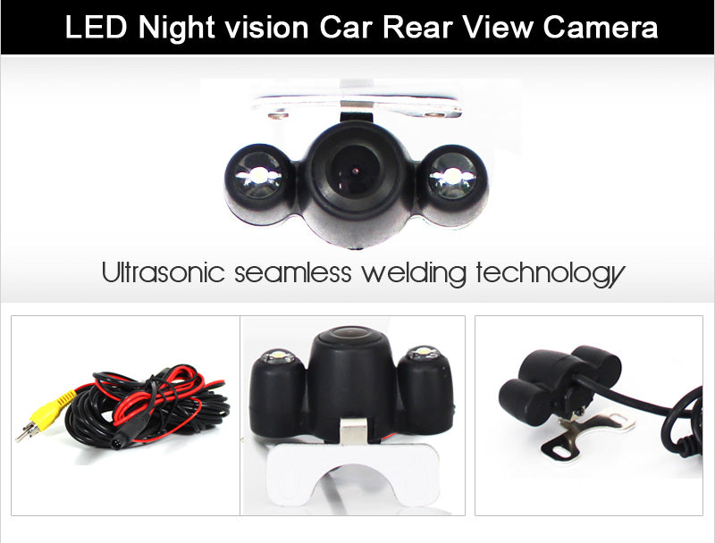 LED waterproof backup camera