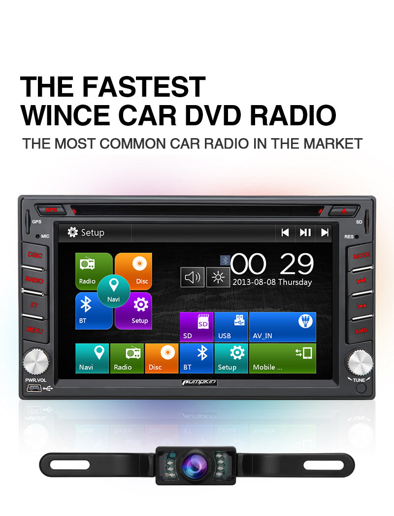 universal car stereo with backup camera