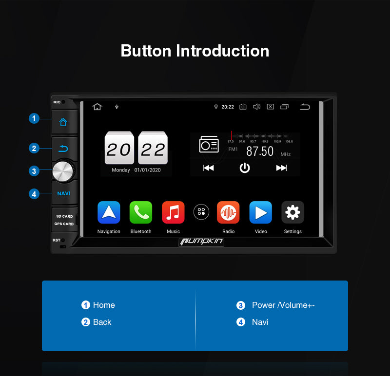 double din android 10 head unit