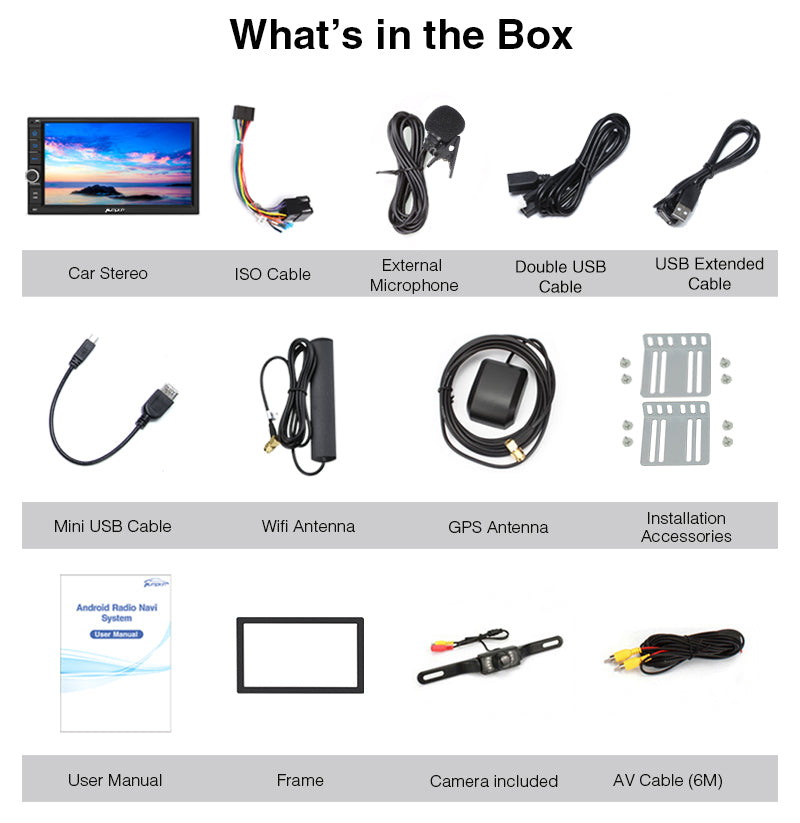 android 2 din head unit