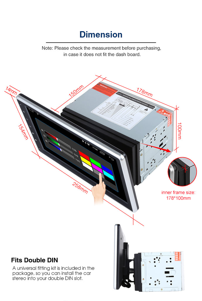 10.1 inch car stereo