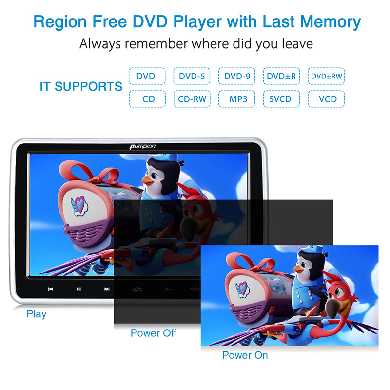 region free car headrest dvd player