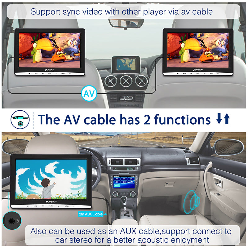 12 inch dvd player for car