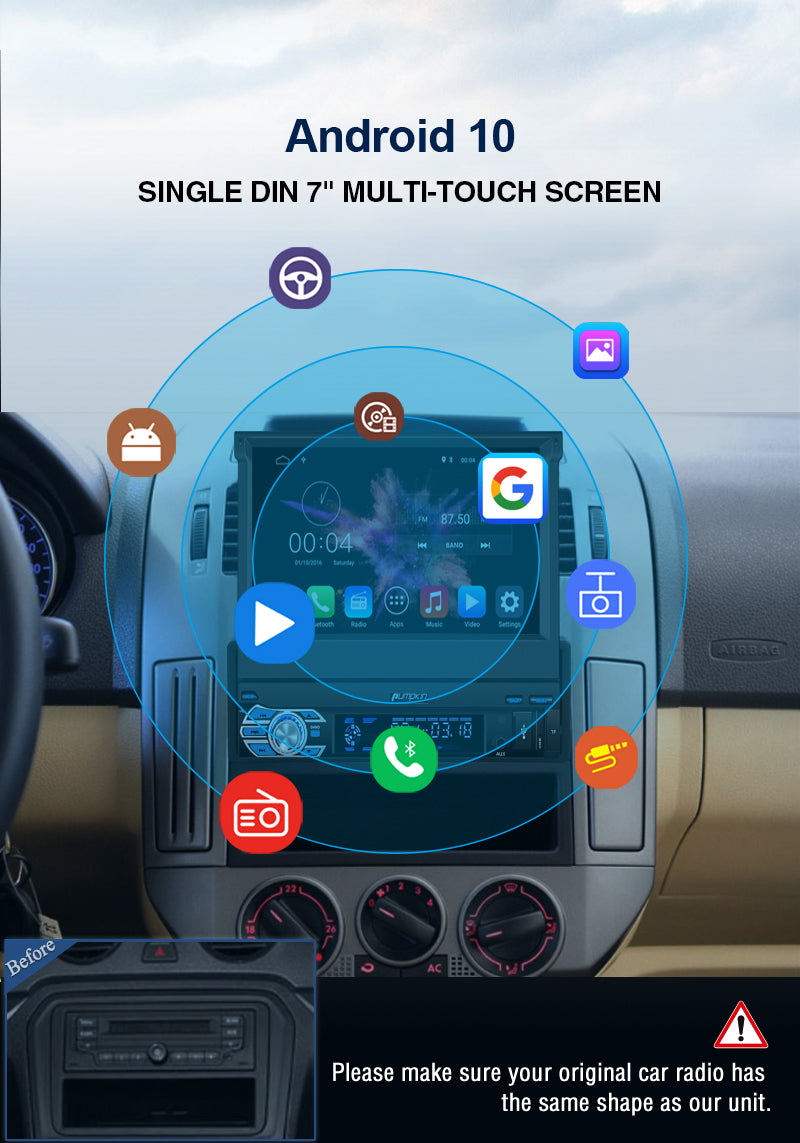 single din bluetooth stereo