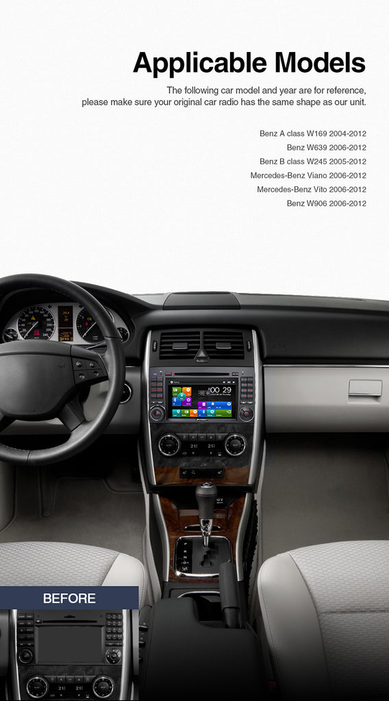 Benz car stereo