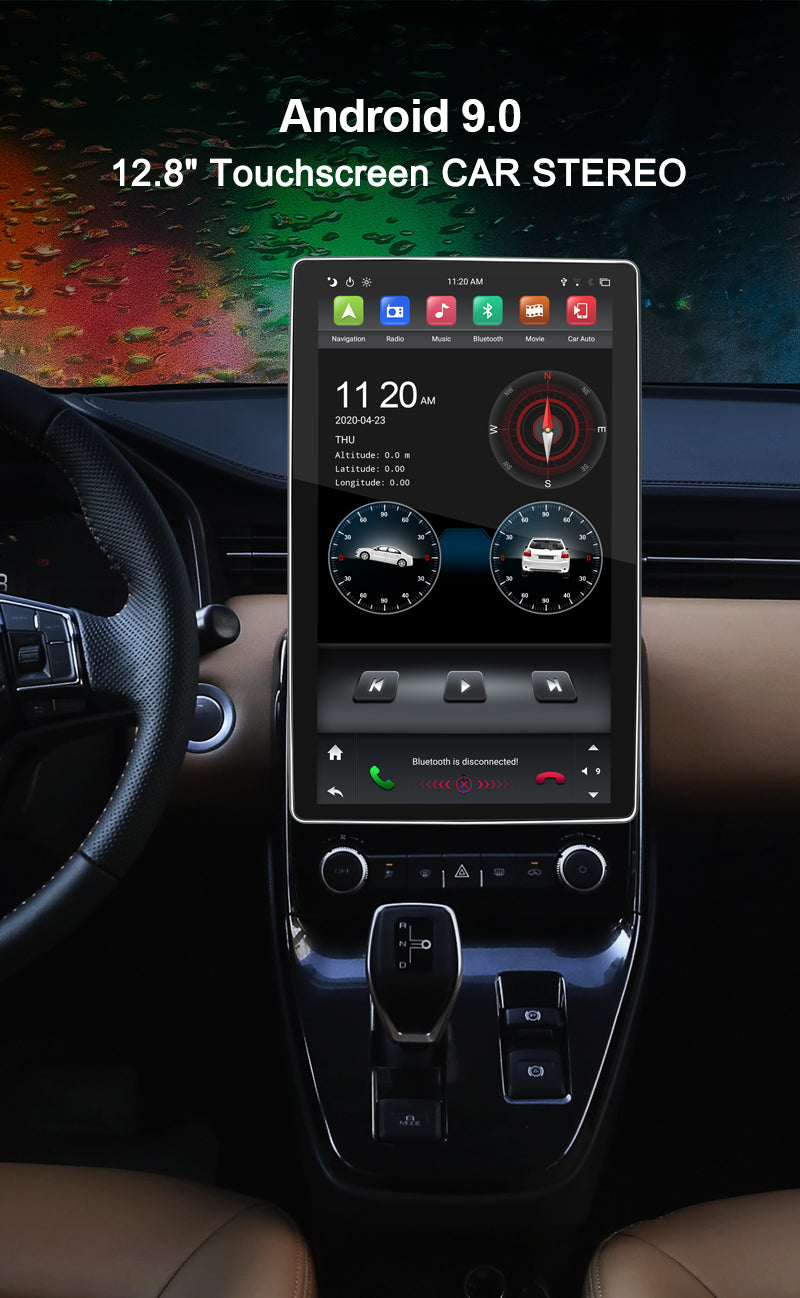 tesla style car stereo