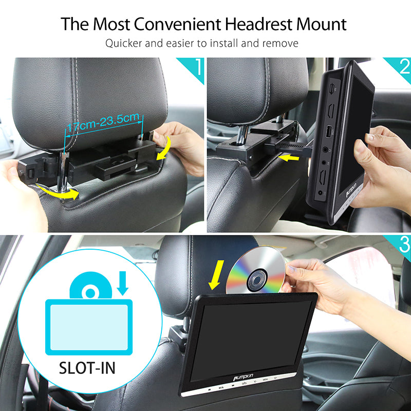 10 inch headrest monitor