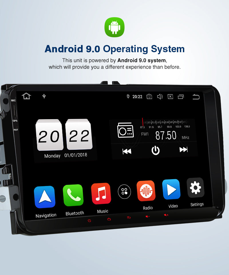 android touch screen radio VW