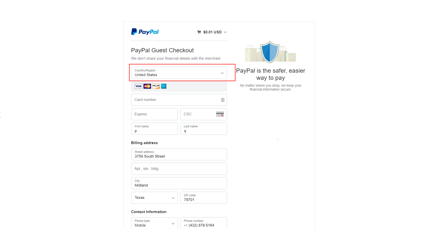 How to make a payment without a Paypal account?
