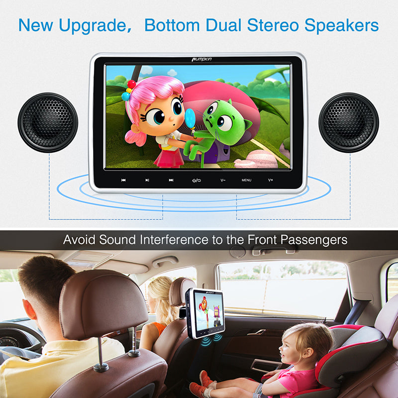 car headrest dvd player for kids