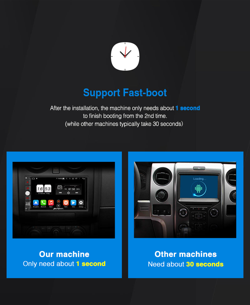 Pumpkin Universal Android 9.0 Car Stereo/Radio Double Din 7 Inch Touchscreen Octa-Core with GPS Navi Bluetooth RAM: 4GB+ROM: 32GB