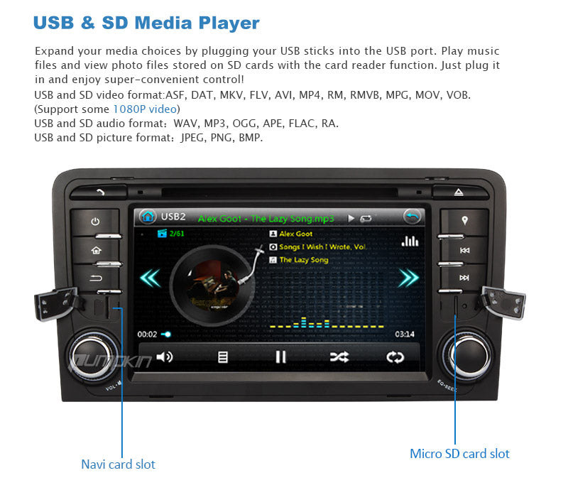 Audi A3 radio with USB SD