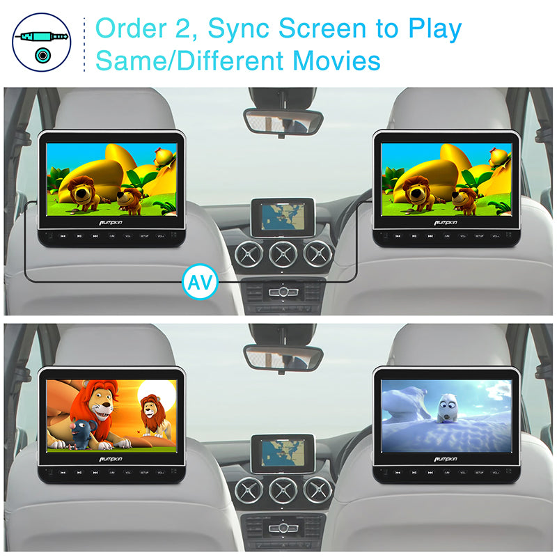 TFT screen DVD player headrest