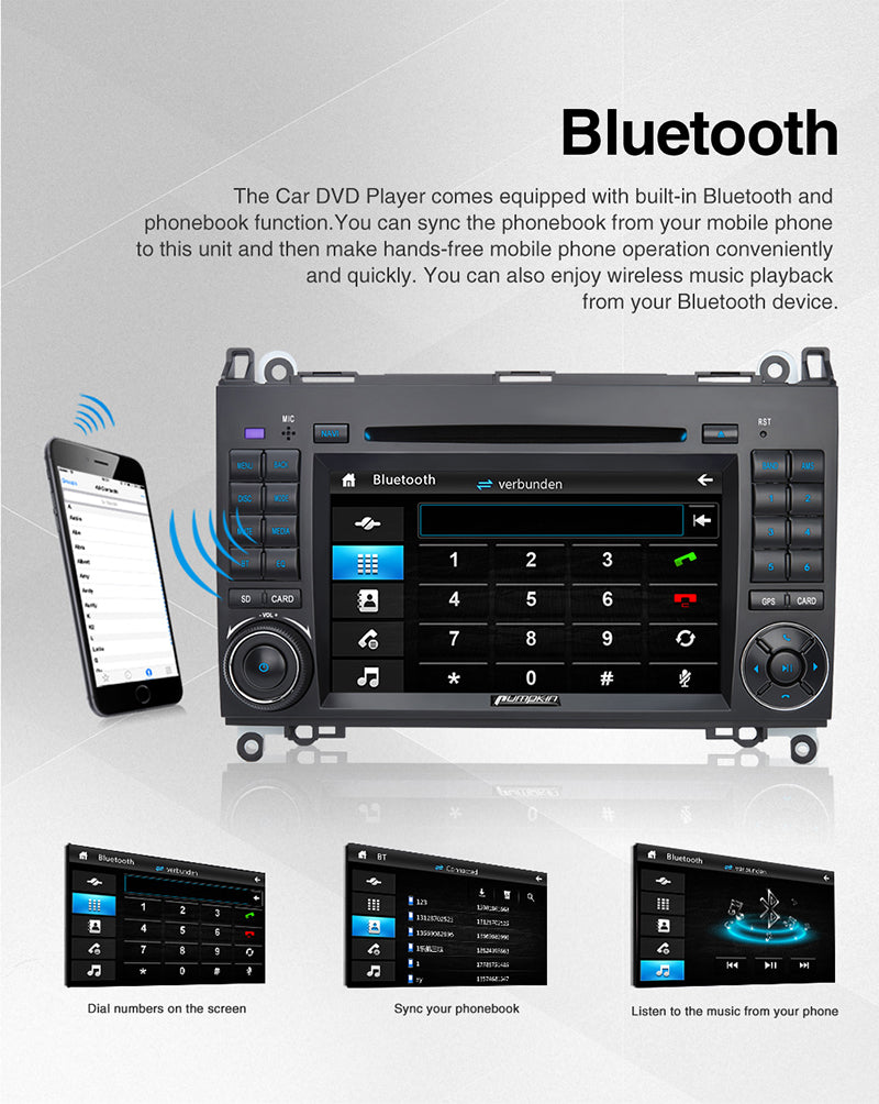 Benz W639 2006-2012 infotainment system with Bluetooth