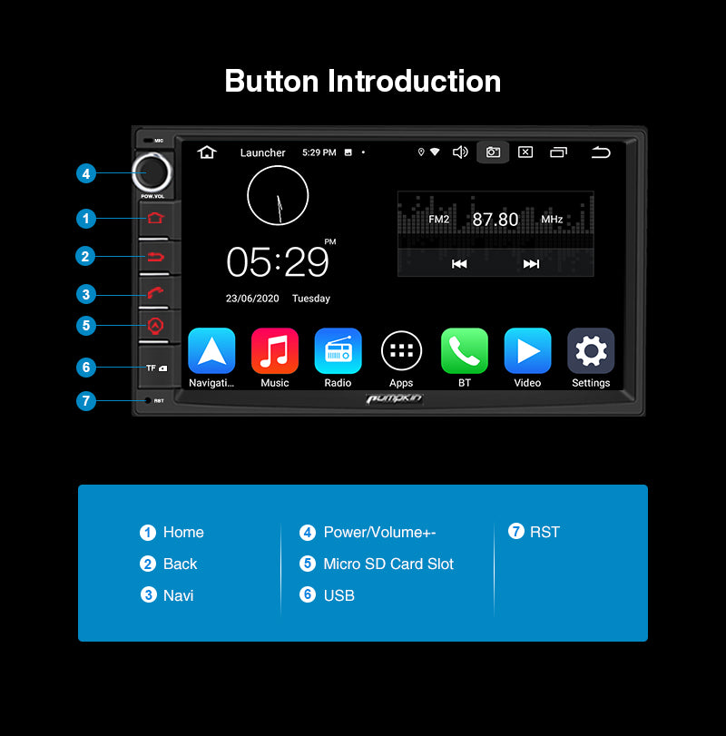 7 inch android 10 car stereo