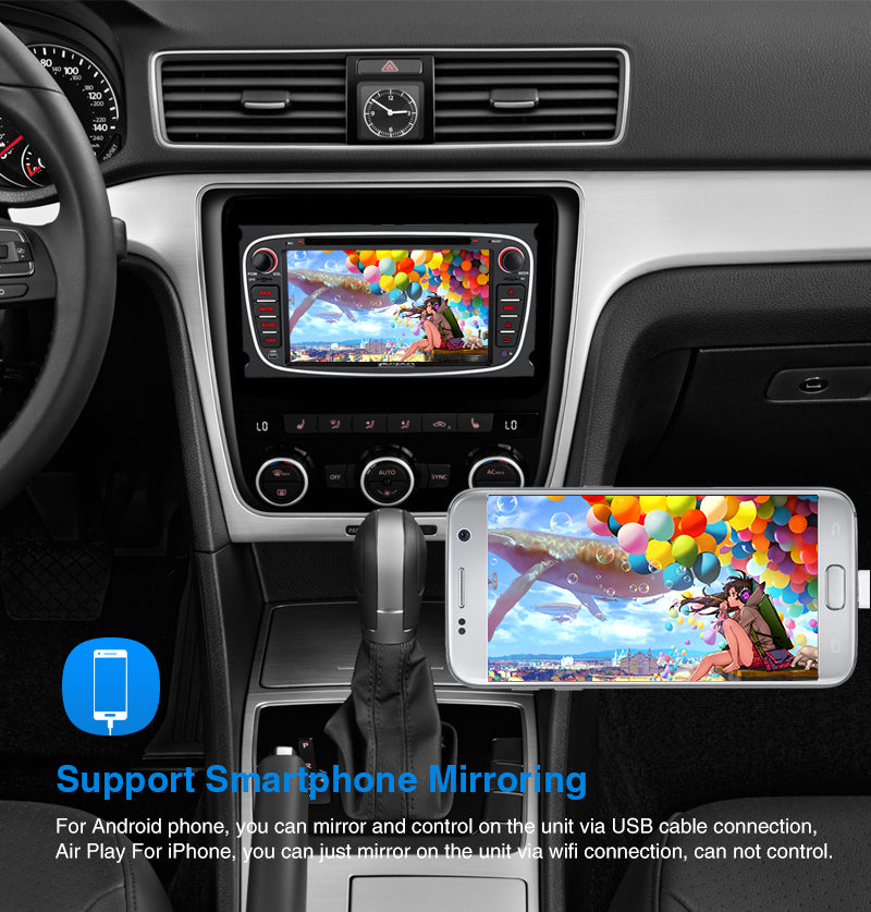 """Pumpkin 7"""" Octa Core Android 9 0 Infotainment Car Head Unit for Ford F"""