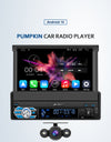 Android 10 Single Din Car Radio with Reverse Camera Flip-out Screen Navigation