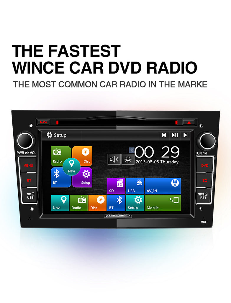 Pumpkin 7-inch Wince 6.0 System Digital Touchscreen Car Stereo DVD Player for Opel/Vauxhall Radio, Built-In USB Port/Micro SD Slot/GPS Navigation System
