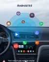 Android 9.0 PX6 Car Stereo for VW Golf, Seat, Skoda with Backup Camera Bluetooth GPS, Support Android Auto WIFI