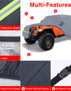 6 Layers Outdoor Car Covers Oxford Cloth Full Car Cover Compatible with 2004-2019 Jeep Wrangler Unlimited JK JL 2 Door SUV