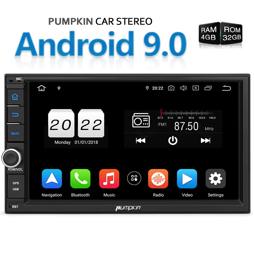 Pumpkin Android 9 0 Universal Applicable Infotainment System Car Stereo 7