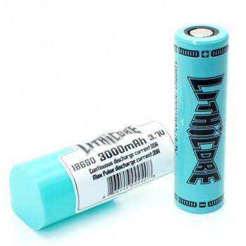 Lithicore IMR 18650 LiMn 3000mAh Battery - 20 Amp