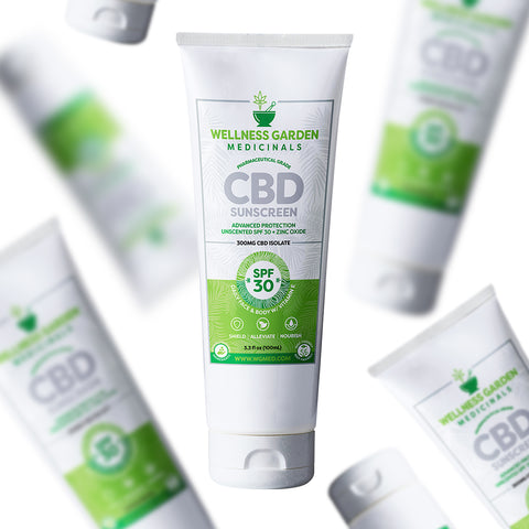 Wellness Garden Medicinals Natural CBD Sunscreen SPF 30