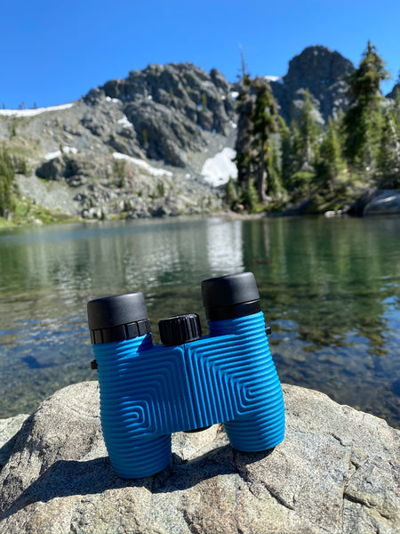 Cobalt Blue Waterproof Binoculars