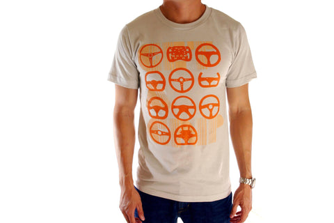 Get a Grip Tee (Orange on Creme)