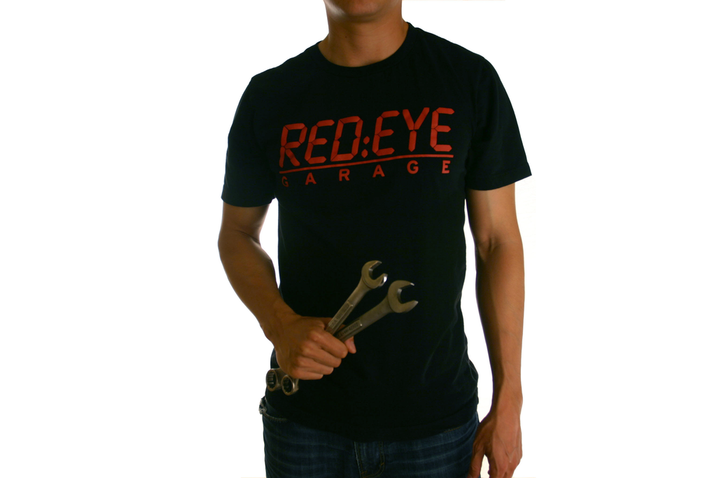 Red Eye Garage Logo Tee (Black)
