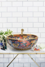 Decorative Sink -Chrysanthemum with Gold Fish #4 - Isabel Harris
